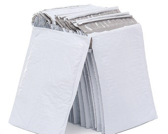 Poly Bubble Mailers, White, Bubble Envelopes, Padded,  Poly Mailers, Poly Bags, Shipping, Envelope, Packaging, Shipping Supplies, Self Seal