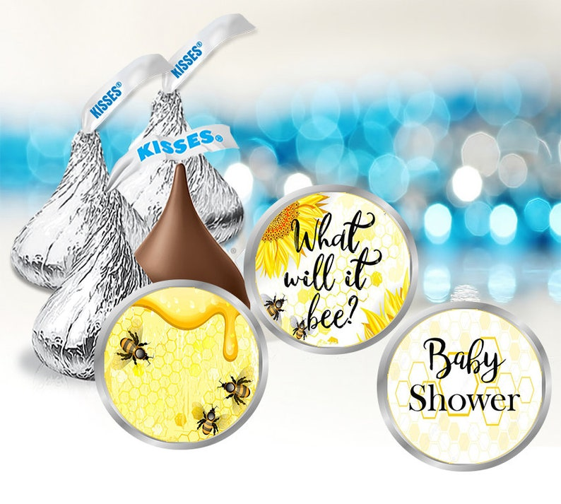 108 Stickers Hershey Kiss Labels Bee Baby Shower Stickers