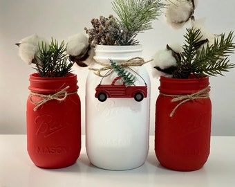 Red Truck Christmas Etsy