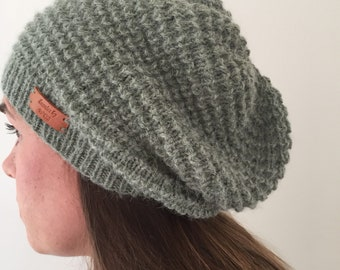 9d6ded8c657 Alpaca and wool olive slouchy