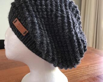 Dark grey wool / alpaca slouchy
