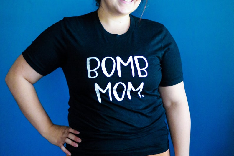 Bomb Kid t-shirt stocking stuffers for Christmas gifts for Mom Bomb Mom funny mom shirt step mom gift matching mommy and baby outfit