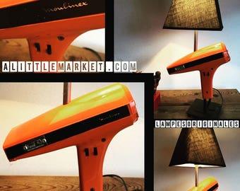 The hairdryer vintage orange 1970's by lampesoriginales .com