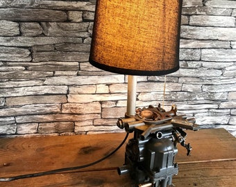 Lamp shade and recycling deco industrial loft carburetor automobilia