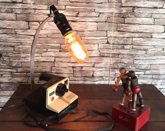 The Polaroid by lampesoriginales lamp industrial recycling old typical of 1980s lamp vintage pola photo