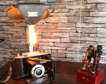 Lamp is an original deco antique vintage photograph lampesoriginales.com loft deco vintage camera