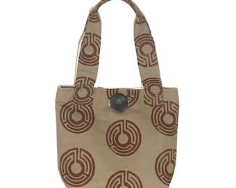 Shoulder Bag - Ecru Maze Print