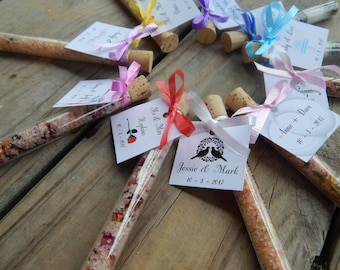 15 Customizable Wedding Favors / Personalized Wedding Favors / Bath Salt Favors / Bridal Shower Favors