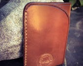 In Stock: Buck Brown Harness Full Grain Leather Wallet - Card Pocket w/ Bill Tuck Pouch