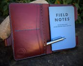 Made To Order:  Leather Passport Wallet / Field Notes Cover w/ Pen Holder & Card Pockets