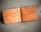 In-Stock, Ready To Ship. Russet Harness Leather Bifold Wallet