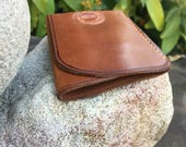 Made To Order: Full Grain Leather Wallet - Card Pocket w/ Bill Tuck Pouch