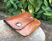 In Stock: Buck Brown Harness Leather Minimalist Snap Wallet
