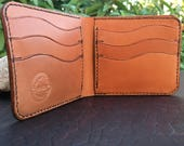 In-Stock, Ready To Ship. Tan Bridle Leather Bifold Wallet