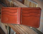 In-Stock, Ready To Ship. Chestnut Brown Bridle Leather Bifold Wallet