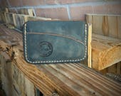 Brown Distressed Leather Minimalist Card Wallet
