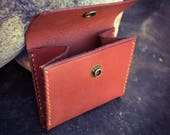 In Stock: Leather Coin Pouch w/ Snap - Chestnut Bridle Leather
