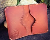 In Stock: Chestnut Full Grain Leather Folded Card Wallet