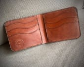 In-Stock, Ready To Ship. Buck Brown Harness Leather Bifold Wallet