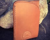 In Stock: Tan Bridle Full Grain Leather Wallet - Card Pocket w/ Bill Tuck Pouch