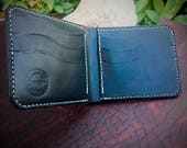 In-Stock, Ready To Ship. Black Bridle Leather Bifold Wallet