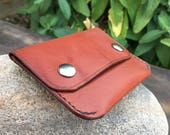 In Stock: Chestnut Bridle Leather Minimalist Snap Wallet