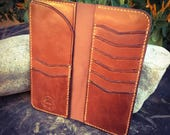 Made To Order:  Full Grain Leather Bifold Gentleman's Tall / Jacket Wallet