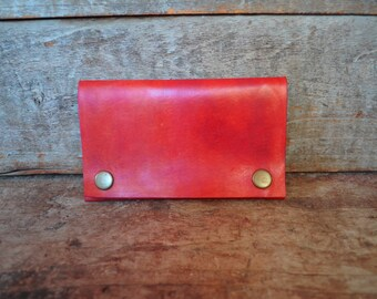 Orangy Red pouch, Wallet, purse