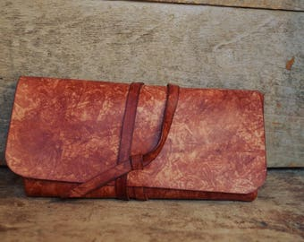 Brown tobacco pouch