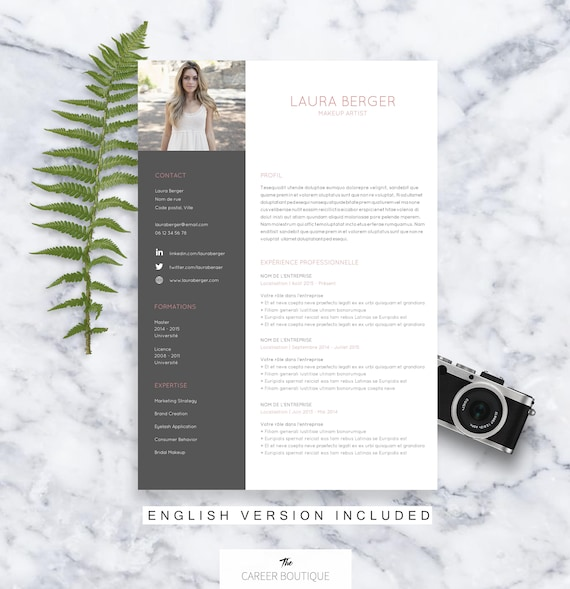mod u00e8le de cv laura resume template lettre de motivation