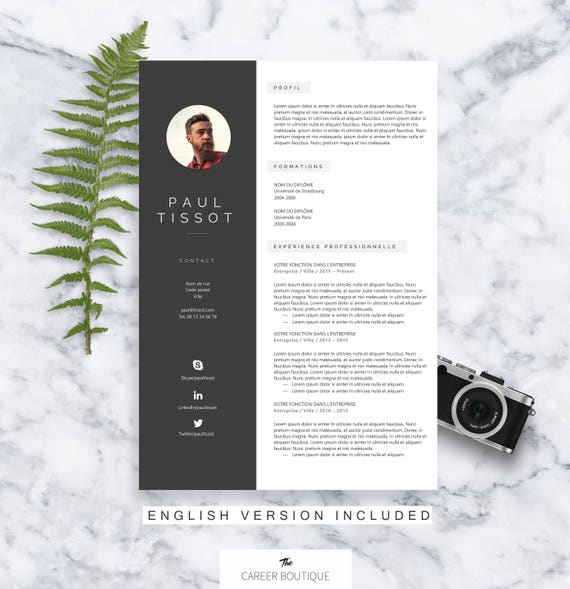 mod u00e8le de cv paul resume template lettre de motivation