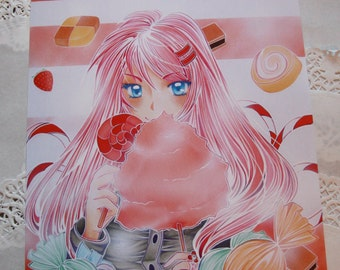 Poster A3 cotton candy