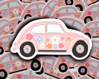 Unframe Customizable Pink Beetle Florals Fashion Illustration Art Print