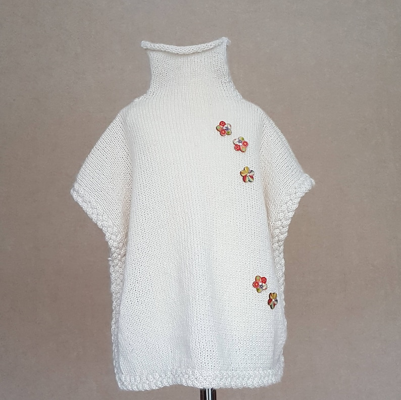 Knit poncho, wool poncho, alpaca sweater, knitted baby clothes, baby girl  clothes, toddler sweater, girls poncho, wool sweater, wool vest