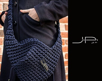 """NEW! """"Blueberry"""" Crochet Cross-body Bag"""