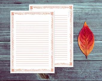Printable Lined Paper Vintage Border Paper Elegant Printable Etsy