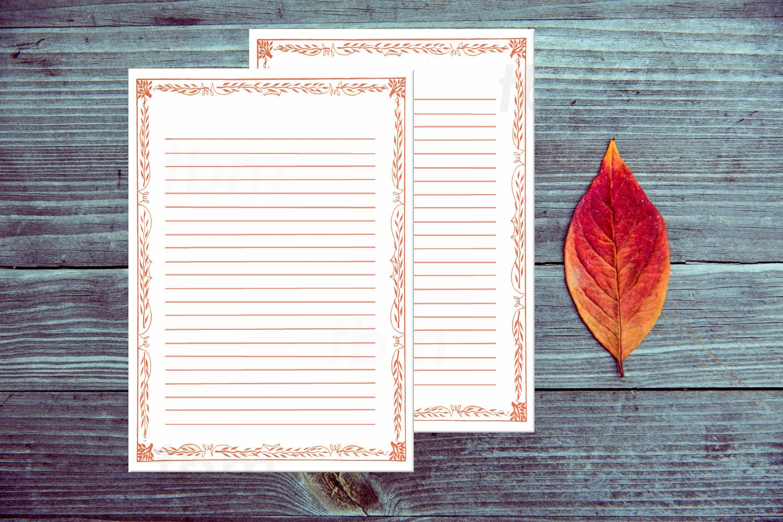 Druckbare Briefpapier gefüttert roten Rand Papier
