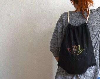 Lotus bag hand printed