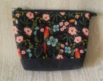 Small Day Bag in Waxed Menagerie from Rifle Paper Co and Grey waxed cotton, Canadian, 1867Shop, Crossbody,