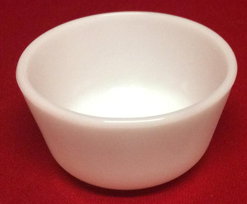 Anchor Hocking Fire King Milk Glass Custard Cups Bowls Set Of 8