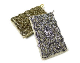 Filigree small notebook pendant for Chatelaine