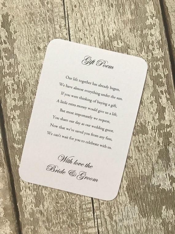 Packung Mit 50 Hochzeit Geld Geschenk Gedicht