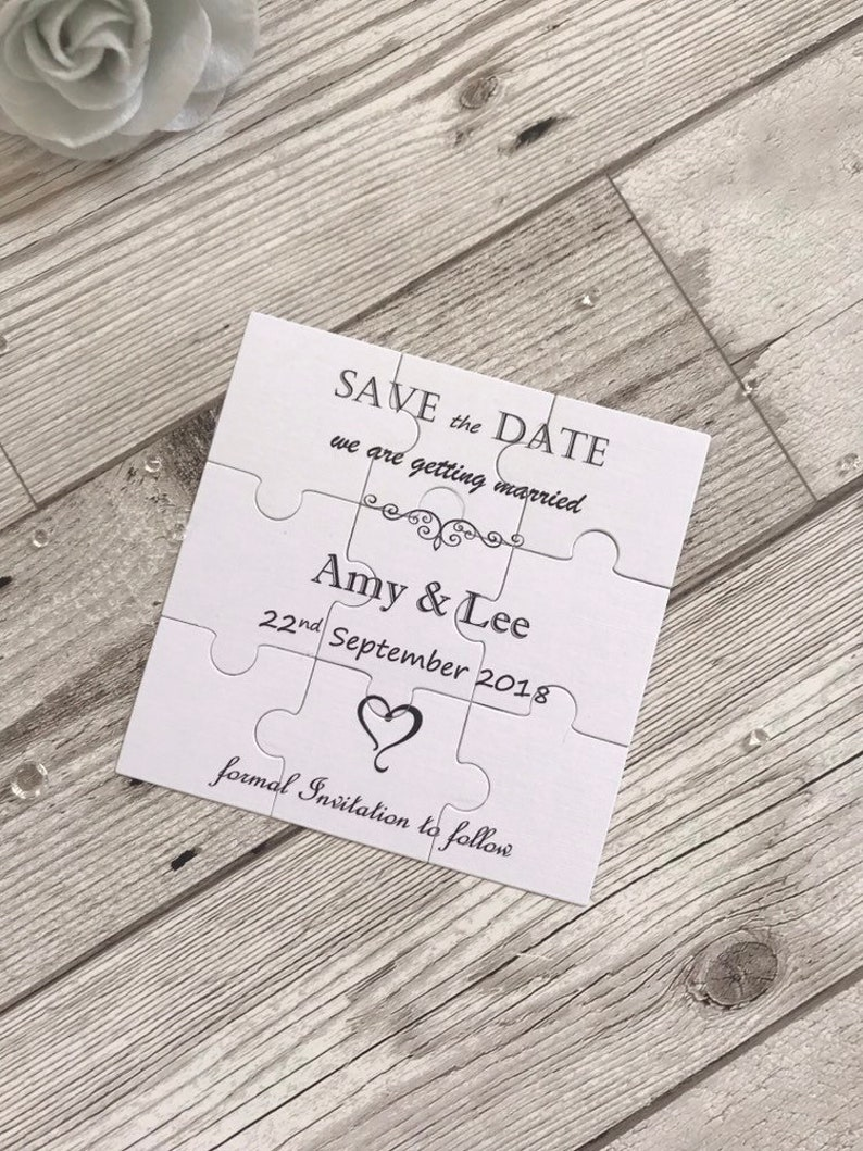 Jigsaw save the date puzzel