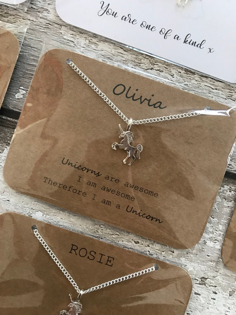 Personalised unicorn necklace
