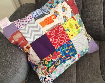 """Bright and fun Patchwork Cushion 14x14"""""""
