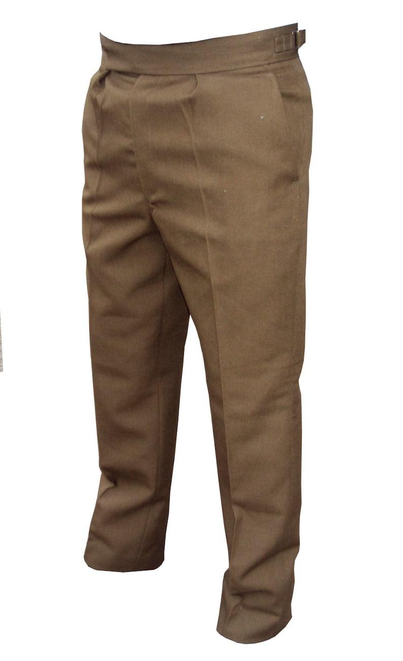 No2 Genuine Vintage British Army Trouser Silver Side Buckles Barrack 1 Pair