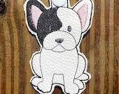 French Bulldog Dog Key Chain, Key Fob, Zipper Pull, Snap Tab