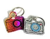 Camera Keychain, Key Fob, Zipper Pull, Snap Tab