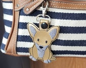 Chihuahua Dog Keychain, Luggage Tag, Zipper Pull