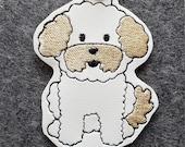 Bichon Frise Dog Key Chain, Key Fob, Zipper Pull, Snap Tab